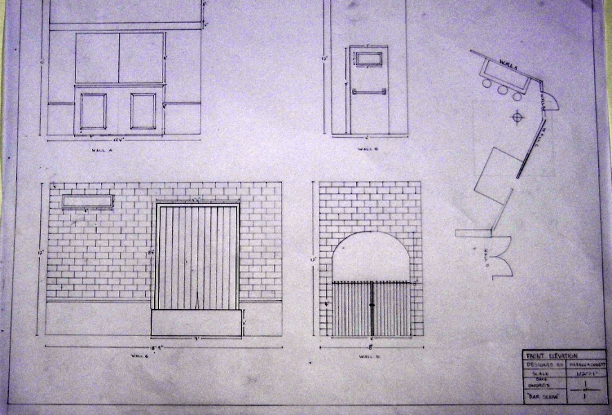 Front elevations and construction drawings